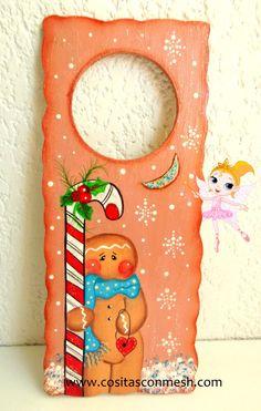 Christmas Stockings, Christmas Cards, Christmas Decorations, Xmas, Holiday Decor, Christmas Ideas, Christmas Paintings, Door Hangers, Candy Cane