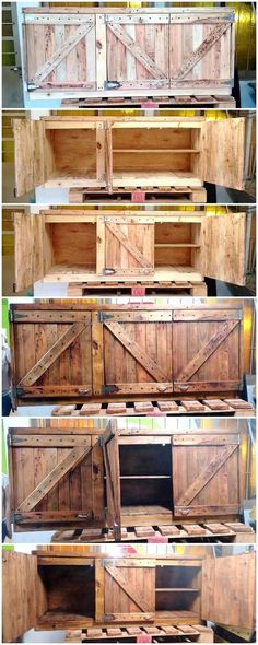 20bf78ce1d04 recycled wood pallets cupboard Wood Pallet Recycling