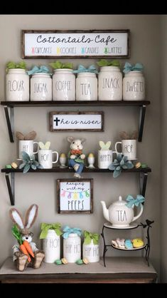 22 DIY Coffee Bar Ideas — Make Your Own Coffee Station - coffee station Shabby Chic Interiors, Shabby Chic Decor, Cafe Interiors, Coffee Bar Home, Coffe Bar, Coffee Shop, Coffee Corner, Coffee Bars In Kitchen, Coffee Cozy