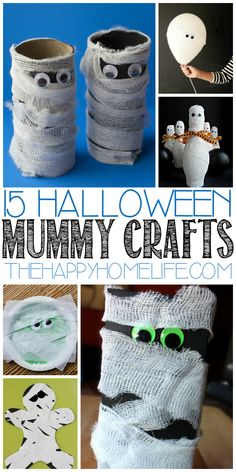 halloween crafts for kids These mummy crafts are perfect for Halloween. We've found fun crafts for kids of every age! Halloween Activities For Toddlers, Halloween Crafts For Kids, Toddler Halloween, Fun Crafts For Kids, Toddler Crafts, Craft Activities, Crafts To Do, Fall Crafts, Kids Diy