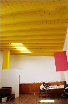 Photo: Architect Luis Barragan's studio has high, beamed ceilings where ... / LJWorld.com