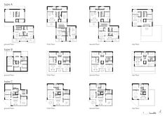 Schweizer Architekturbüro aus 8001 Zürich - CH high standing apartments with view onto the lake of zurich Apartment Layout, Apartment Plans, Higher Learning, Concept Architecture, Planer, Floor Plans, Diagram, How To Plan, Layouts