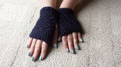Fingerless Mitts Gloves crocheted handmade Peruvian by softtotouch