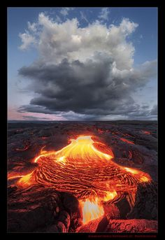 Lava Flow - Kalapana, Hawaii