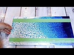 (35) PART 2 of Acrylic Pour Number 35 adding Edging with SAND!! - YouTube