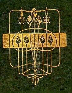 Talwin Morris Glasgow School book design (An original highly-stylized Art Nouveau design for a book binding, by leading Glasgow School. Book Cover Art, Book Cover Design, Book Design, Book Art, Antique Books, Vintage Books, Art And Craft Design, Design Art, Illustrations