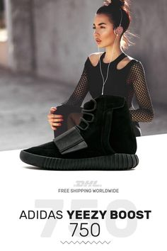 62d3cf76b9bc How to get Adidas Yeezy Boost 750 Triple Black trainers