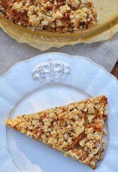 Przepis na szarlotka sypana fit - MniamMniam.com Vegan Recipes, Pie, Sweet, Drinks, Food, Interior, Torte, Candy, Drinking