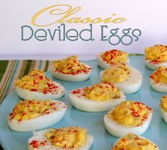 Deviled Eggs...perfect for Easter Dinner or Brunch.
