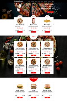 Delivery Food PSD Template - Delivery Food - Ideas of Delivery Food - Delivery food PSD Template allows quickly and cheaply to deploy a modern on-line service on ordering food and drinks home or to an office. Food Web Design, Web Design Trends, Ui Design, Design Ideas, Pizza Delivery, Delivery Food, Cafe Counter, Webdesign Inspiration, Coffee Delivery