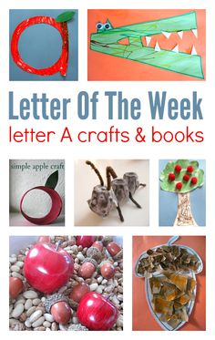 letter of the week a ideas for preschool or homeschool