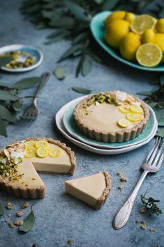 Raw Meyer Lemon Cream Tarts - The Kitchen McCabe