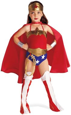 Disfraz de La Mujer Maravilla - Justice League DC Comics. WonderWoman ChildCostume http://www.partybell.com/p-179-justice-league-dc-comics-wonder-woman-child-costume.aspx
