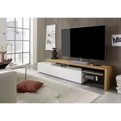 E-com Negro Mueble TV Salon Moderno Mesa Television Utah 140 cm