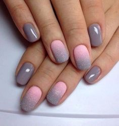 Nail art is a very popular trend these days and every woman you meet seems to have beautiful nails. It used to be that women would just go get a manicure or pedicure to get their nails trimmed and shaped with just a few coats of plain nail polish. Gel Nail Art Designs, Winter Nail Designs, Nails Design, Nail Glitter Design, Unique Nail Designs, Grey Nail Designs, Colorful Nail Designs, Hot Nails, Pink Nails