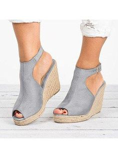 158592a56de Plain Velvet Peep Toe Casual Date Wedge Sandals. Cute SandalsCheap SandalsWedge  SandalsShoes ...