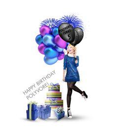 """Happy Birthday Polyvore"" by milkandabsinth ❤ liked on Polyvore featuring art, happy birthday, dolls and doll"