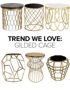 Trend We Love: Gold Wireframe Side Tables