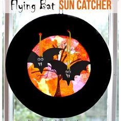 Flying Bats Sun Catcher Craft – The Pinterested Parent