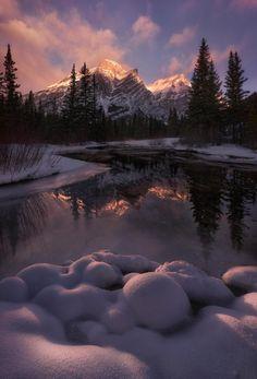Sunrise on Mount Kidd - Kananaskis Alberta.