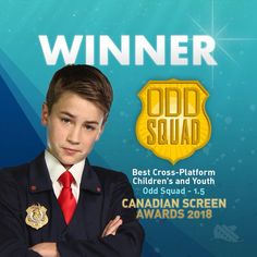 "ODD SQUAD - 1.5 TAKES HOME THE CANADIAN SCREEN AWARD FOR ""BEST CROSS-PLATFORM CHILDREN'S OR YOUTH""!! ⠀⠀⠀⠀⠀⠀⠀⠀⠀  ⠀⠀⠀⠀⠀⠀⠀⠀⠀  WAY TO GO ODD BALLS! ⠀⠀⠀⠀⠀⠀⠀⠀⠀  ⠀⠀⠀⠀⠀⠀⠀⠀⠀  #winner #edutainment #canadianscreenawards #csa #crossplatform #game #app #oddsquad #agents #kids #science #sinkingship"