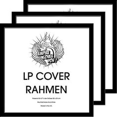 3er Set LP Wechselrahmen für Plattencover Profil: 30mm MDF Holzfaserwerkstoff lackiert schwarz von Empire Merchandising GmbH, http://www.amazon.de/dp/B004IOI8Z8/ref=cm_sw_r_pi_dp_FEaZrb090RWWW