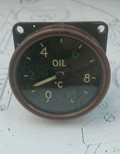 WWII Spitfire Oil Temperature gauge A RARE INSTRUMENT