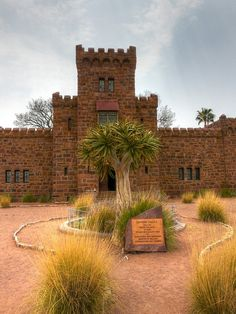 Duwisib Castle - Namibia by johnnie West Africa, South Africa, Land Of The Brave, Namibia, Namib Desert, Monument Valley, The Good Place, Beautiful Places, Statues