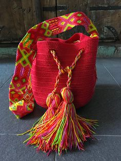 Morral Maya flecos de Otomiartesanal