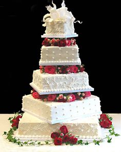 cake boss wedding cake - i'll Will make this for my sisters wedding! Pretty Wedding Cakes, Themed Wedding Cakes, Wedding Cake Flavors, Amazing Wedding Cakes, Pretty Cakes, Amazing Cakes, Cake Wedding, Bolos Cake Boss, Gateaux Cake