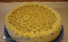 Banános, krémes torta recept fotóval