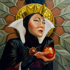 jasonshorrillustration:    The Evil Queen  2012  20x20 oil on canvas.  I wish the photo of this was better… but here's the latest in my villains portrait series. I had the lovely Ophelia Chong (she's on tumblr! Chonglish!) for my model. She was perfectly menacing.  Next up: Ursula!