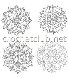 Crochet Mandala, Crochet Motif, Crochet Doilies, Crochet Flowers, Crochet Lace, Crochet Stitches, Crochet Patterns, Crochet Round, Irish Crochet