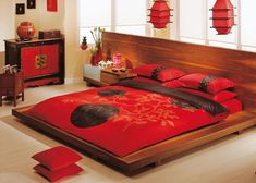 Oriental Bedroom Design - Today many architectural styles evolved, the oriental style became one of the much-loved design. Asian Inspired Bedroom, Asian Inspired Decor, Asian Home Decor, Asian Style Bedrooms, Japanese Style Bedroom, Asian Interior, Home Interior Design, Bedroom Themes, Bedroom Decor