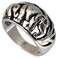 Elephant Sterling Silver Unisex Ring by jewelkingthai on Etsy, $22.00