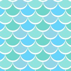 David Textiles - New Waves - Light Blue Noveau Scales