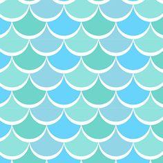 David Textiles - New Waves - Light Blue Noveau Scales