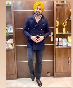 Punjabi Boys, Business Card Mock Up, Dressed To Kill, Smart Casual, Turban, Mockup, Singers, Men Dress, Casual Outfits
