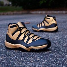 1ff1cf2d4c652c Air jordan 11 custom black gold Basketball Shoes