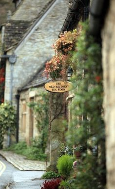 Castle Combe, the fairytale village in the Cotswolds of England. >> Love this shot.