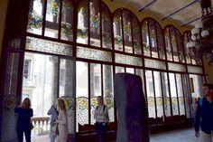 BARCELLONA - Palau de la Musica Catalana vetrata