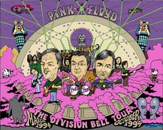 ➳➳➳☮American Hippie Music - Psychedelic Art .. Pink Floyd - Division Bell Tour concert poster