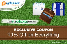 Receive 10% discount on all products across the site. Redeem the Exclusive Discount only at #Paylesser #Coupon #ClassicFootballShirts  Why pay more?