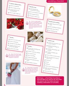 Your Month Mega Wedding Checklist If YouVe Got A Ring On