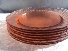 Arooroc Pink Swirl Rosaline Glass  8 Dinner by WhiskeysWhims
