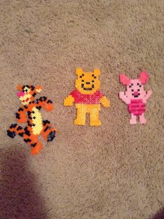 Tigger, piglet, and pooh perler beads - DIY
