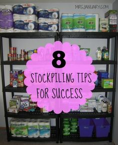 Stockpiling is one of the best ways to save money on your grocery bills. Here a 8 tips to set your stockpile up for success - which means big time savings! Ways To Save Money, Save Money On Groceries, Money Tips, Frugal Tips, Coupon Deals, Money Matters, Extreme Couponing, Couponing 101, Food Storage