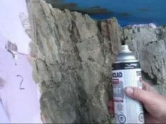 Tutorial How to make stone-structure in styrofoam - YouTube #modeltrains