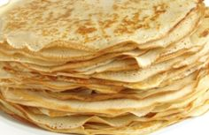 Crepes, made with coconut flour and oil. I'm almost positive that this photo isn't a photo of the actual crepes. Paleo Recipes, Low Carb Recipes, Cooking Recipes, Good Easy Recipes, Flaxseed Meal Recipes, Paleo Breakfast, Breakfast Recipes, Mexican Breakfast, Pancake Recipes