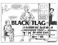 Black Flag, Saccharine Trust, Overkill, Wasted Youth and Circle One at The Cuckoos Nest. Aug 21st 1981.